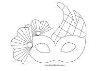 Maschera Veneziana da colorare | Disegni da colorare