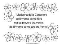 Detto sulla Candelora | Disegni da colorare