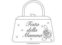 Festa della Mamma  Borsetta | Disegni da colorare