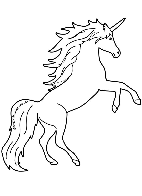 Dolce Unicorno Disegno Da Colorare Gratis Disegni Da
