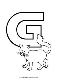 Disegno alfabeto_gatto categoria alfabeto da colorare
