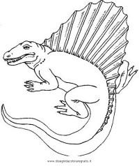 Disegno spinosauro_01 animali da colorare.
