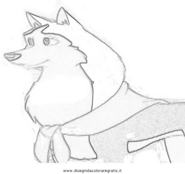 Disegno Balto 17 Personaggio Cartone Animato Da Colorare