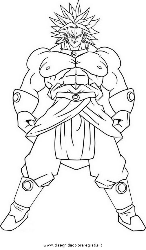 disegno dragonball vegito 2 personaggio cartone animato
