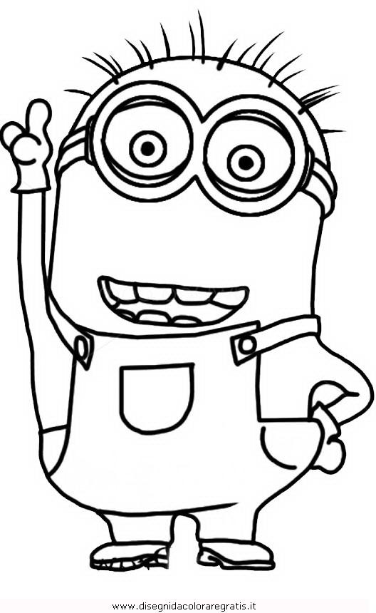 Disegno minions_13: personaggio cartone animato da colorare