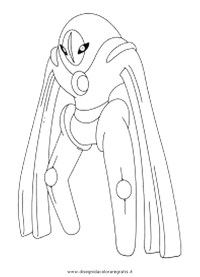 Pokemon Coloring Pages Deoxys