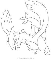 Disegno pokemon_lugia: personaggio cartone animato da colorare