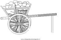 Disegno carretto_siciliano categoria mezzi_trasporto da