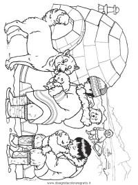 Disegno igloo_eschimesi misti da colorare