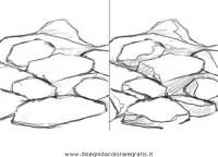 Disegno rocce_13 misti da colorare