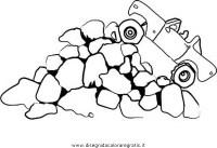 Disegno rocce_14 misti da colorare