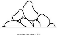 Disegno rocce_17 misti da colorare