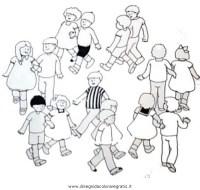 Bambini In Girotondo Da Colorare Risultati Immagini Per