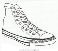 Disegno converse_5 misti da colorare