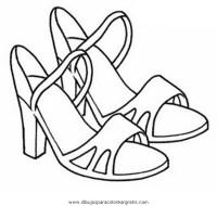 Disegno sandali_scarpe misti da colorare