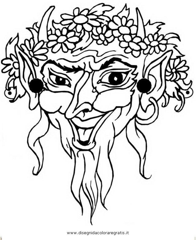 Disegno Maschera Greca 3 Categoria Nazioni Da Colorare