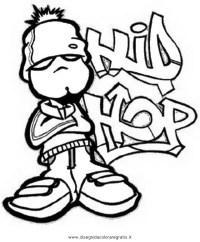 Disegno hip-hop-3 categoria sport da colorare