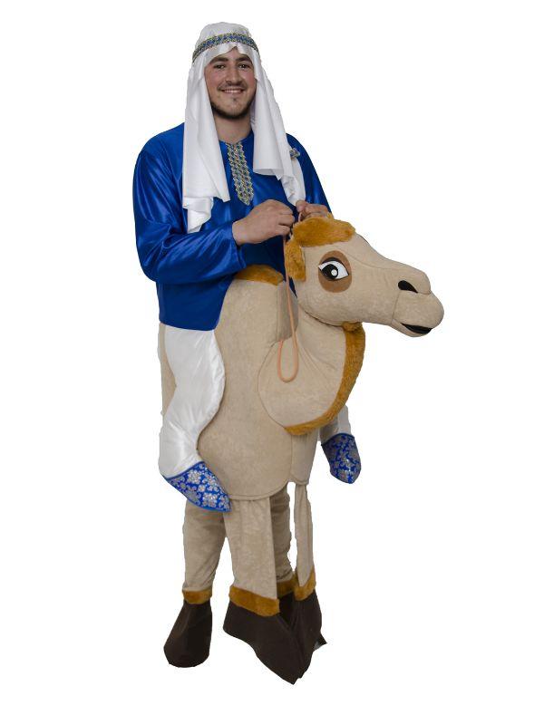 sin duda este disfraz de rabe con camello sera el rey para estas navidades donde su y su gracia sera el mejor en vuestras navidades