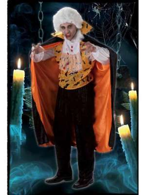 Disfraz Vampiro Murcielago Naranja Hombre