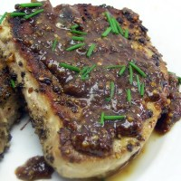 Tuna Steaks with Dijon Honey Mustard Sauce