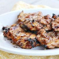 Grilled Honey Mustard GLazed Chicken Thighs