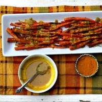 Roasted Carrots with Tahini Turmeric Dressing
