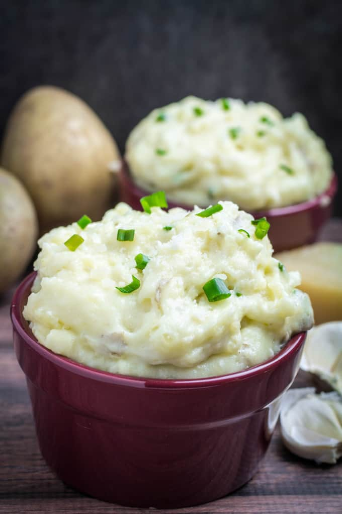 sharp Parmesan cheese in these Creamy Garlic Parmesan Mashed Potatoes ...