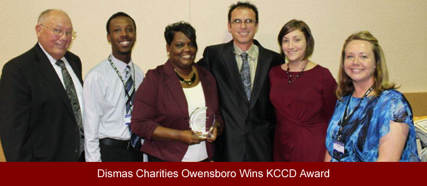 Dismas Charities Owensboro Wins KCCD Award