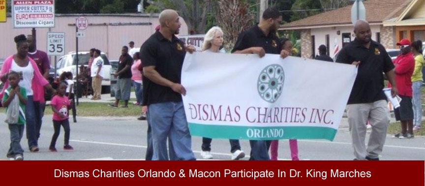 Dismas Charities Orlando & Macon Participate In Dr. King Marches