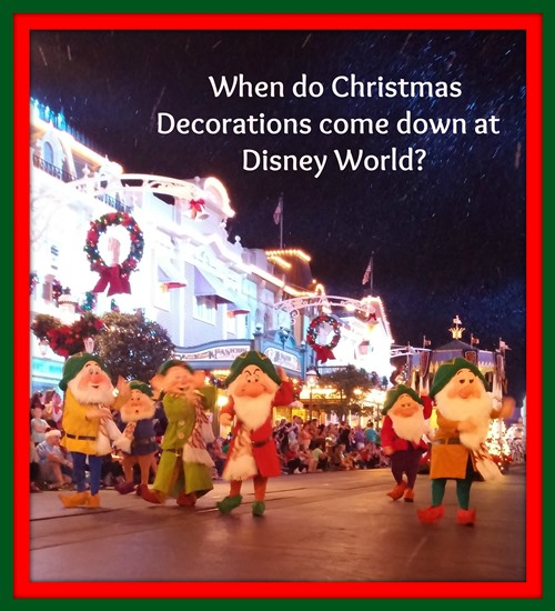 When Do Christmas Decorations Come Down In Spain : When do christmas decorations come down at disney world