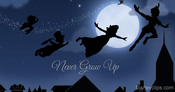 Thank You Wallpaper Animated Peter Pan And Tinker Bell Wallpaper Disneyclips Com