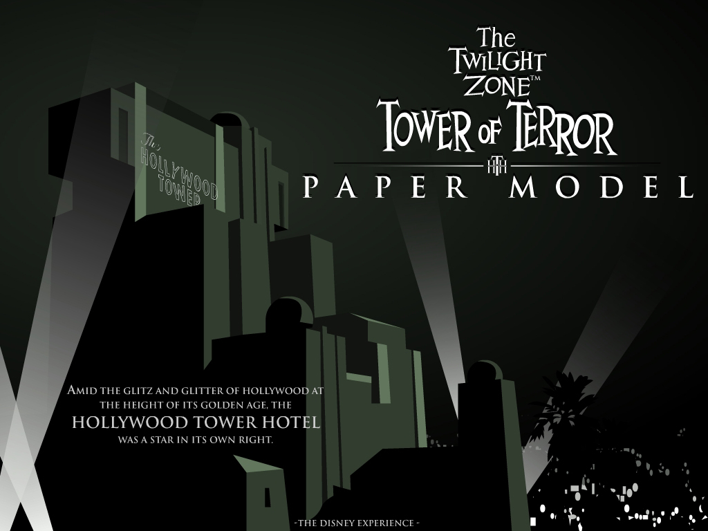 Wallpaper Minecraft 3d Tower Of Terror Dca Version Paper Model