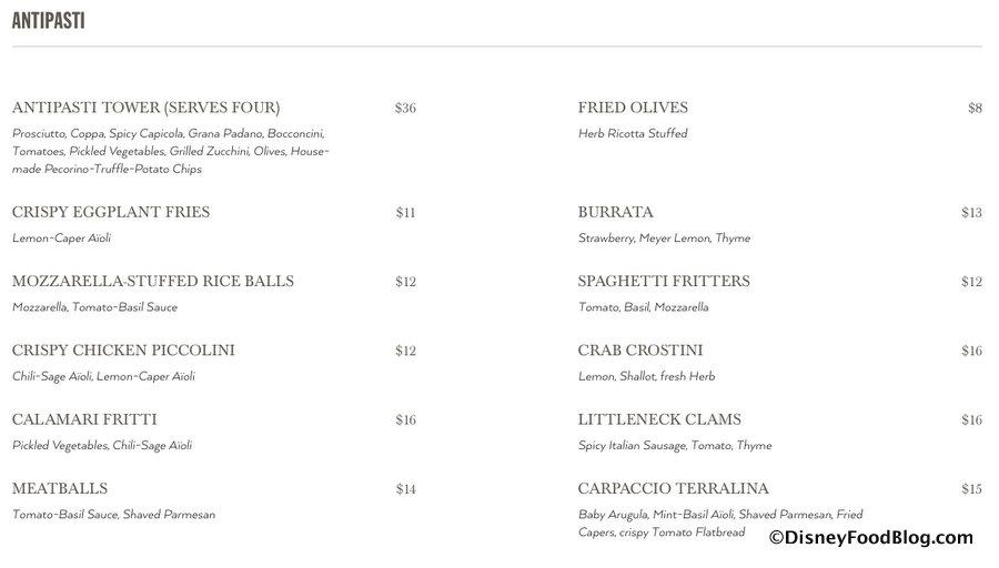 What\u0027s on the Full Menu at the NEW Terralina Crafted Italian in - italian menu