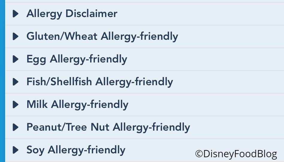 Disney Restaurant Allergy-Specific Menus Now Available on