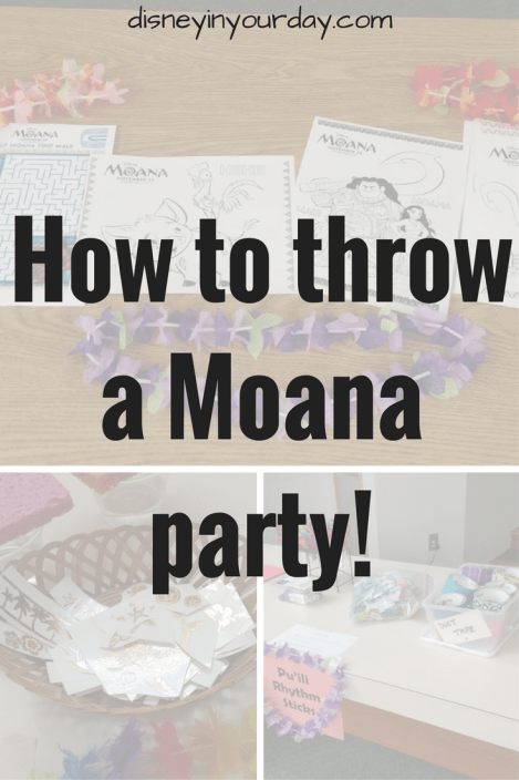 Moana Party - Disney in your Day