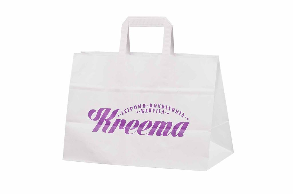 Durable White Paper Bags With Print Galleri White Paper