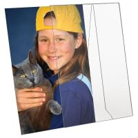 """4""""w x 6""""h Acrylic Picture Frame & Sign Holder"""