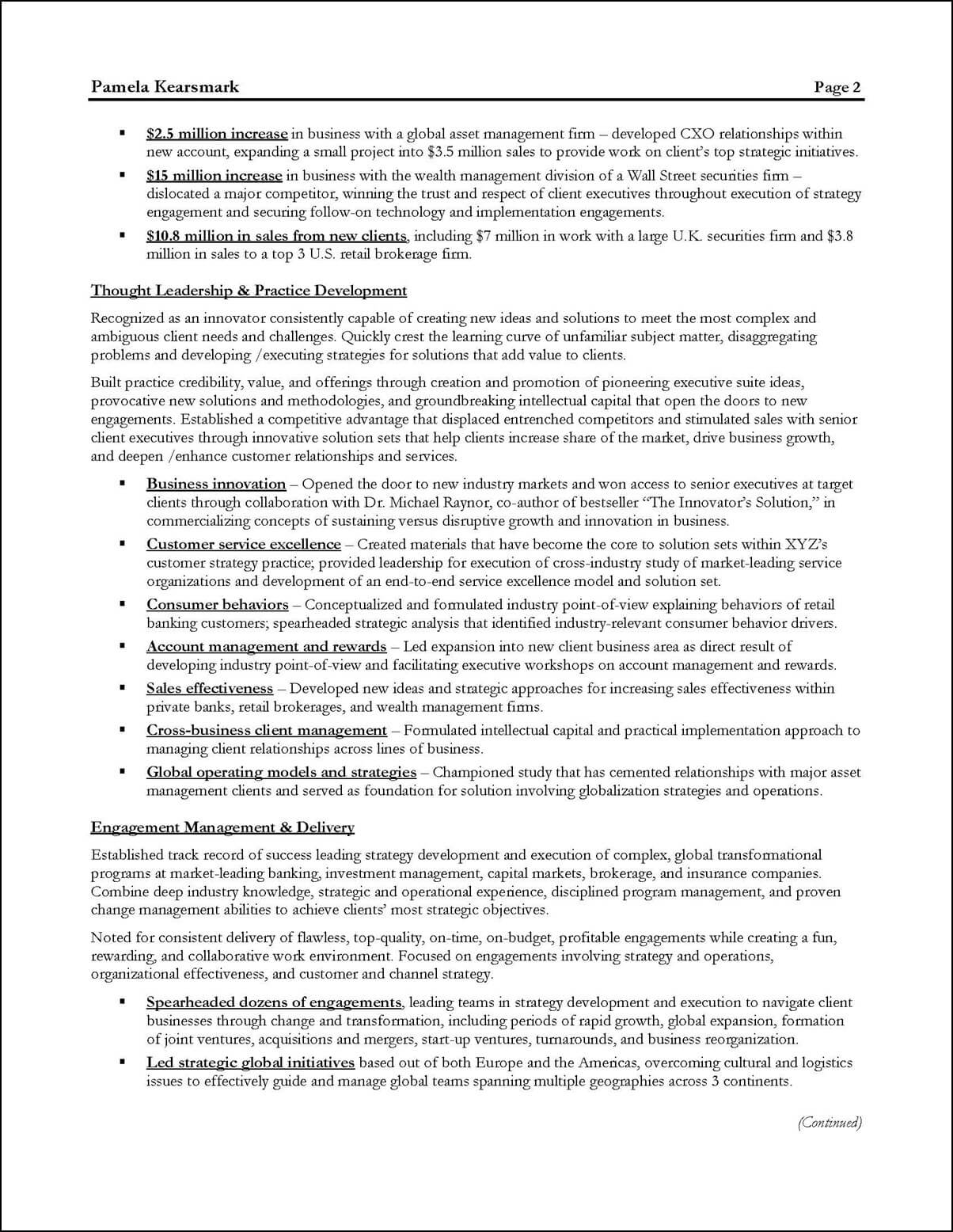 business consultant resume examples - Business Consultant Resume Sample