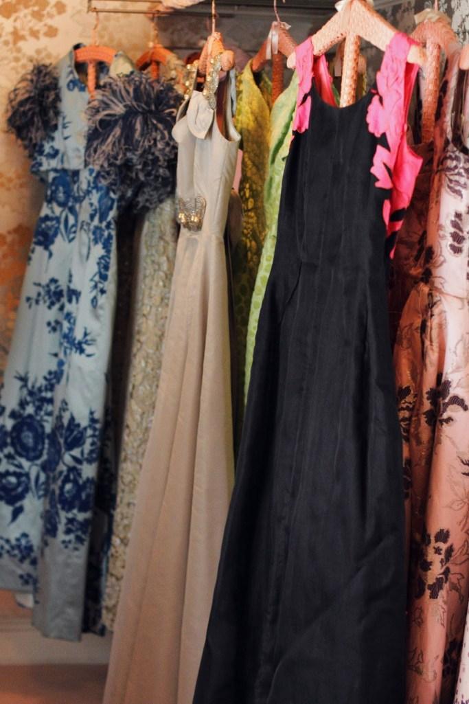 Marjorie Post's closet at Hillwood