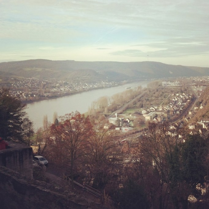 view of the Rhine Valley from Marksburg Castle