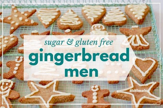 Sugar free gingerbread men - gluten free and low carb - whole food