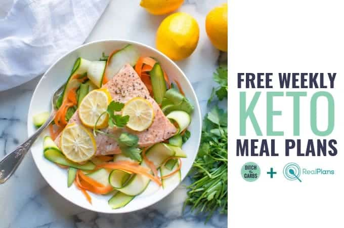 Free Keto Weekly Meal Plan - save time and stay on track