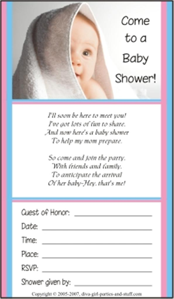 Baby Shower Invitations and Wording Examples