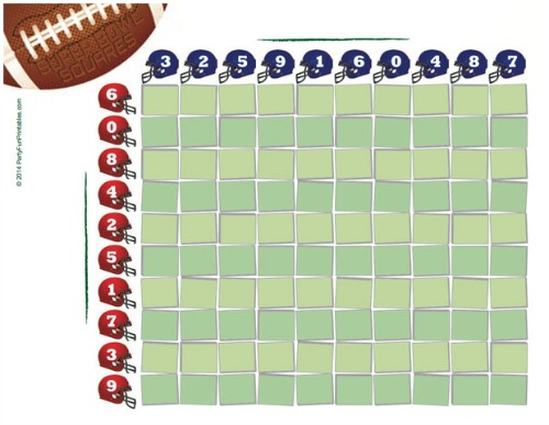 Super Bowl Party Ideas and Printables