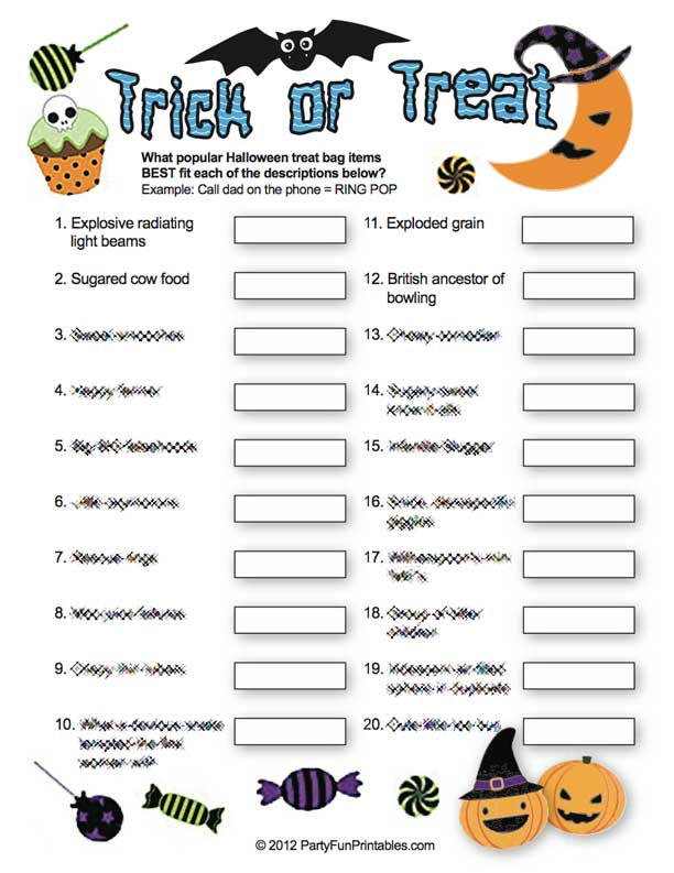 Adult Halloween Games Interactive and Fun