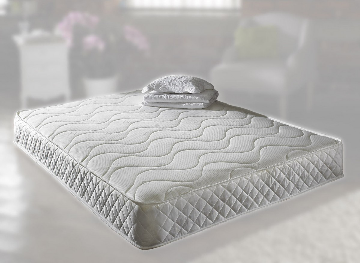 Pearl 5ft King Size Memory Foam Mattress In White