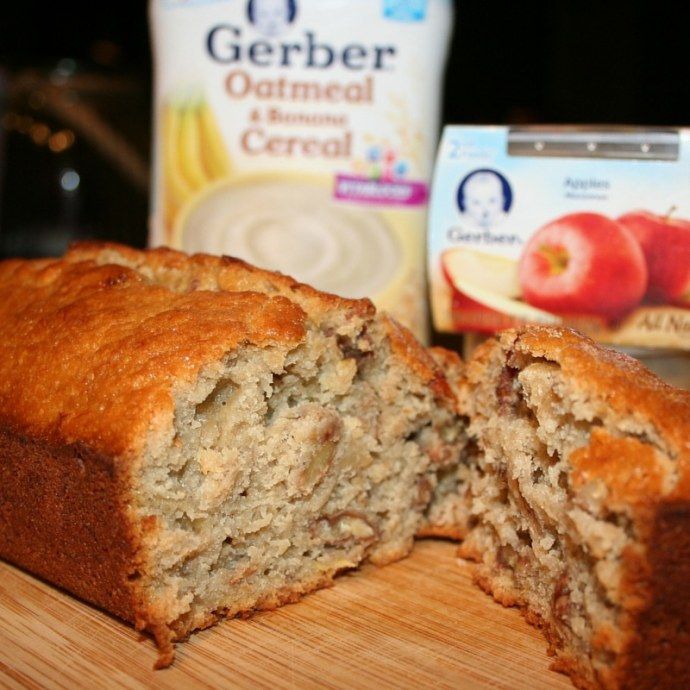 Banana Nut Bread: Absolutely Delicious #CookingWithGerber