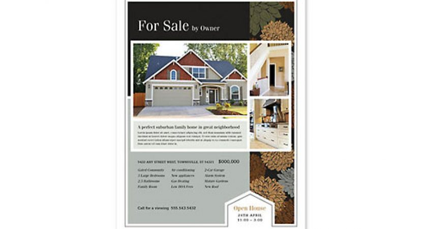 Marketing With Real Estate Flyers u2013 Design And Printing - contemporary flyer