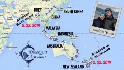 Walking dollar sign Divergent Travelers 6 months RTW