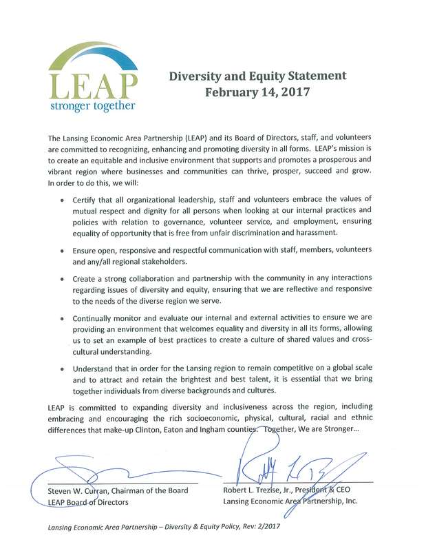 LEAP Diversity  Inclusion - diversity statement